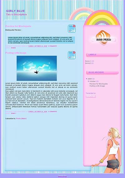 free girly templates for blogger girly blue blogger template girly blogger template