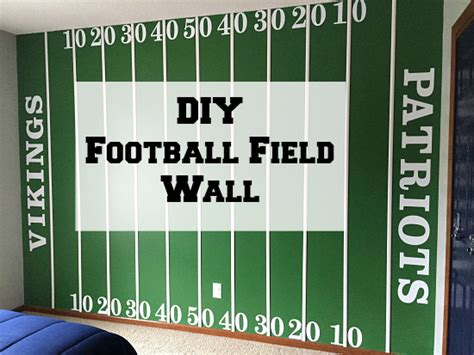 diy football field wall lemons lavender laundry