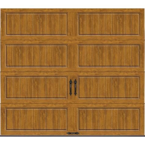 8 X 7 Garage Door Clopay Gallery Collection 8 Ft X 7 Ft 18 4 R Value Intellicore Insulated Solid Ultra Grain