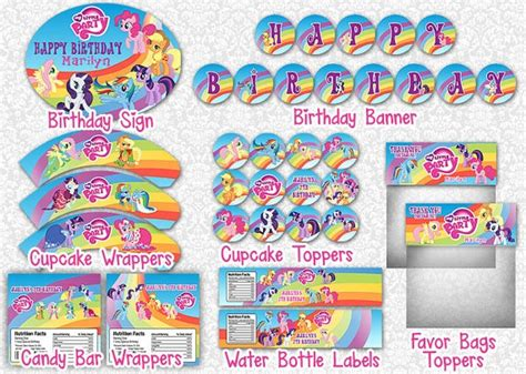 my little pony printable birthday decorations 84 best mlp for grace images on pinterest