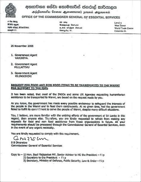 Request Letter In Tamil Tamilnet 24 12 08 Colombo Instructs Vanni Gas To Refrain