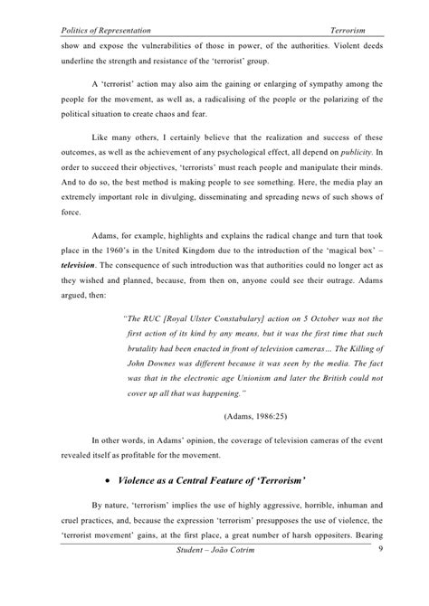 Essay On Terrorism by Terrorism Essay