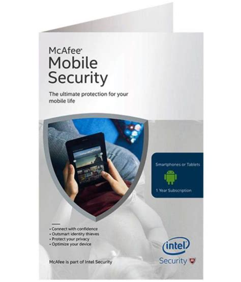 mobile mcafee security mcafee mobile security version 1 pc 1 year buy
