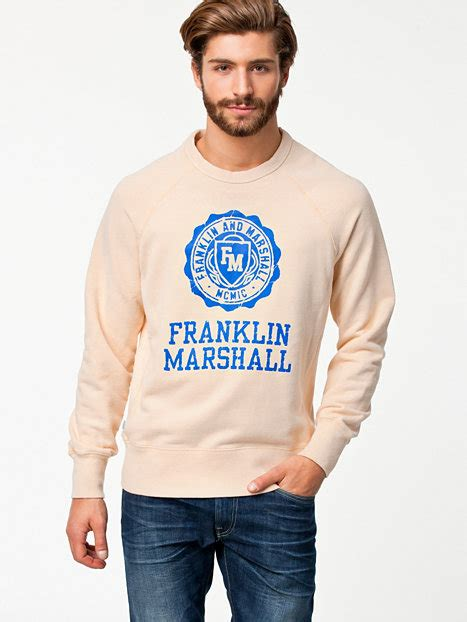 Sweater Switer Marshall Lification 1 flmc047w13 franklin marshall white jumpers cardigans clothing nlyman