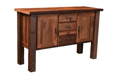 Amish Handcrafted - barnwood almanzo buffet with mission doors