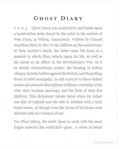 ghost diary artist book by maureen cummins