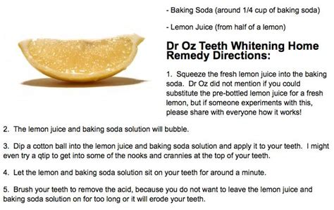 dr oz teeth whitening remedy ingredients