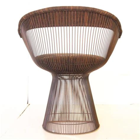 Platner Dining Chair Set Of Ten Bronze Warren Platner Dining Chairs At 1stdibs