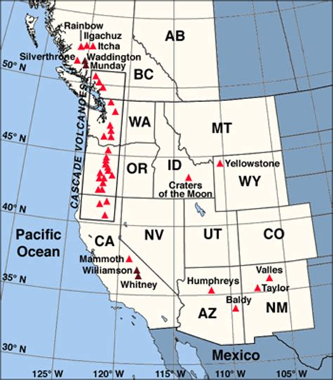 map of western canada and us skiing the pacific ring of and beyond western united