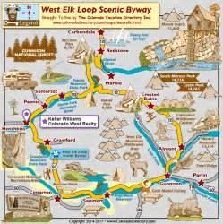 colorado scenic byways map west elk loop scenic byway map colorado vacation directory