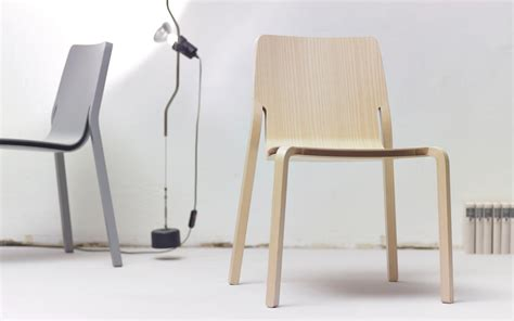 design milk wheelchair layer a stackable plywood chair by oliver schick design
