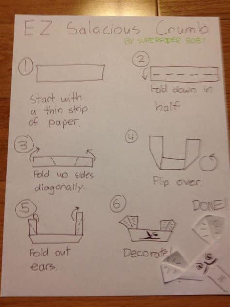 Origami Salacious Crumb - ez salacious crumb instrux origami yoda