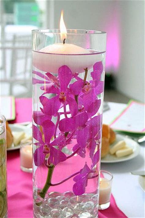 Flowers In Vase With Water by Floating Candles Distilled Water Flowers