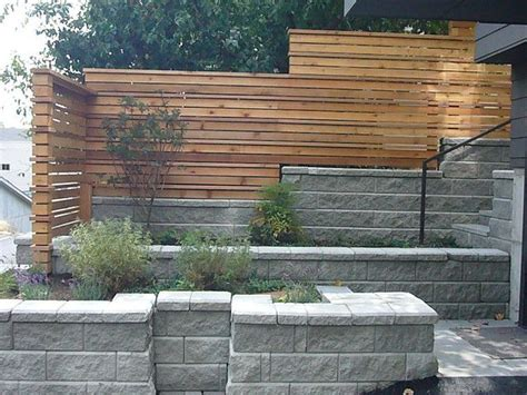 modern fence horizontal fence block retaining wall love this