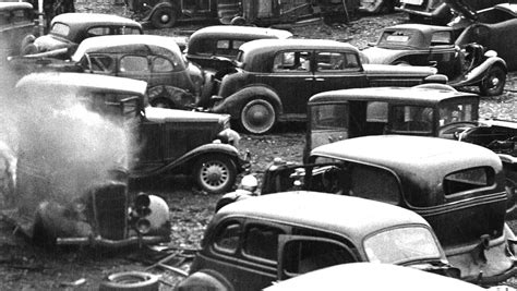 philly junk yard  cars scraped  crushed
