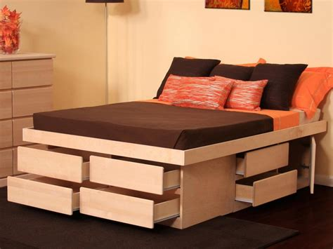 bed platform with storage platform bed with storage drawers modern