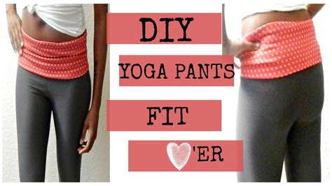 diy yoga pants pattern diy yoga pants i easy beginner sewing youtube