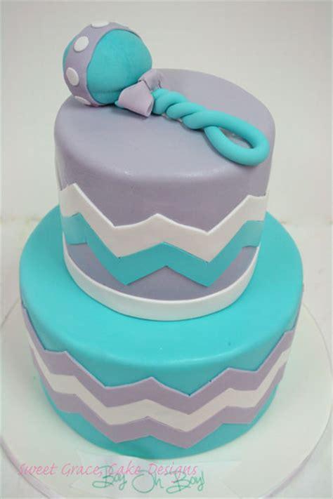 Baby Shower Cakes Nj by Baby Shower Cakes Nj Chevron Rattle Custom Cakes