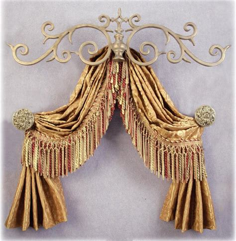 drapery scarf holders large royal metal top treatment interiordecorating