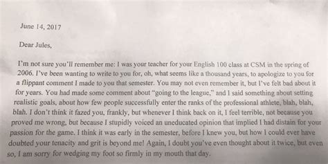 lettere di scuse in la lettera di scuse dell insegnante all alunno quot non avevo