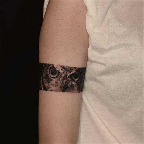 owl eyes tattoo 40 noteworthy armband ideas amazing ideas