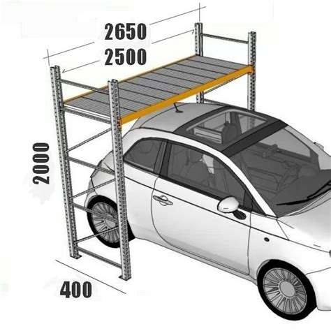 larghezza box auto scaffali per box scaffalature per garage h195xl250xp40 cm