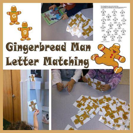 gingerbread man matching game printable gingerbread man letter matching kidssoup