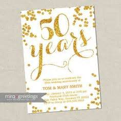 50th Wedding Anniversary Gift Etiquette by 50th Anniversary Invitation Photo And Block Text