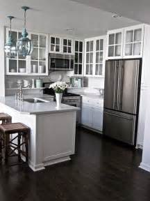 small kitchen flooring ideas kitchen white cabinets hardwood floors white gray granite counters kitchen