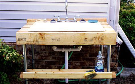 easy  build outdoor garden sink