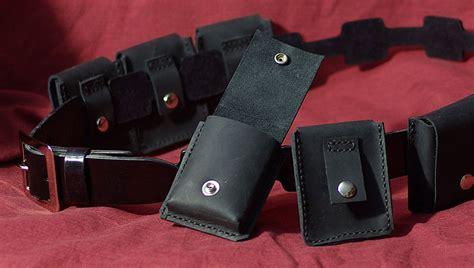 black leather utility belt by psychicsandswords on deviantart