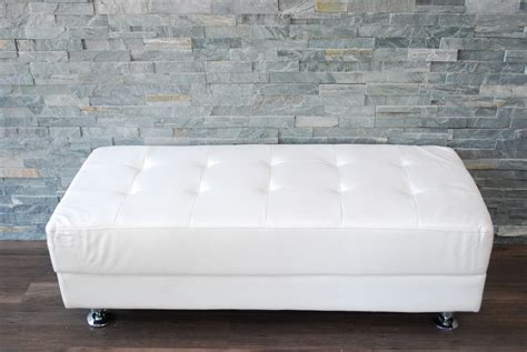 grissini bench iron white leather bench soapp culture