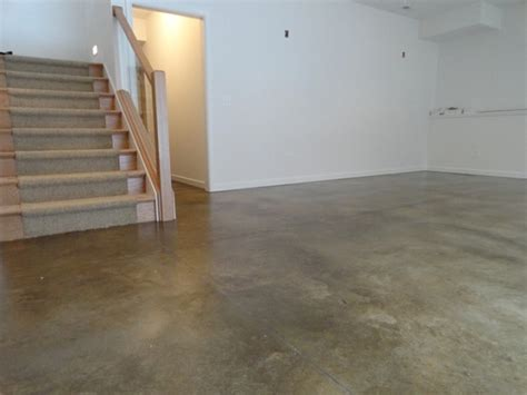 sealed concrete basement waterproof floor flooring ideas