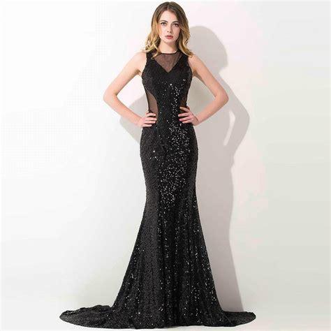 aliexpress buy backless black prom dresses