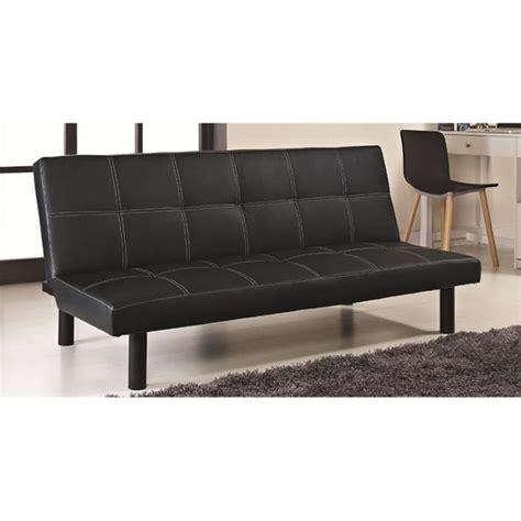 canapé clic clac noir clic clac noir design en simili cuir achat vente bz