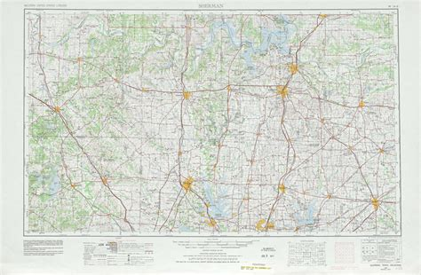topo maps texas sherman topographic maps tx ok usgs topo 33096a1 at 1 250 000 scale