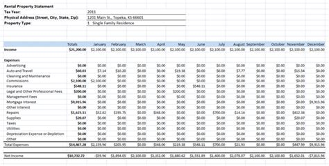 rental property balance sheet template 9 rental property spreadsheet template excel