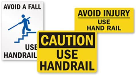 handrail signs use handrail signs mysafetysign