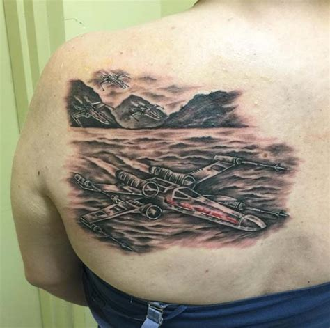 x wing tattoo tatouage x wing