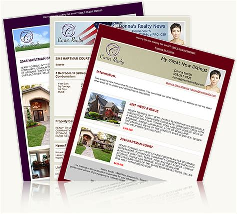 real estate email newsletter templates real estate email newsletters and listing flyers