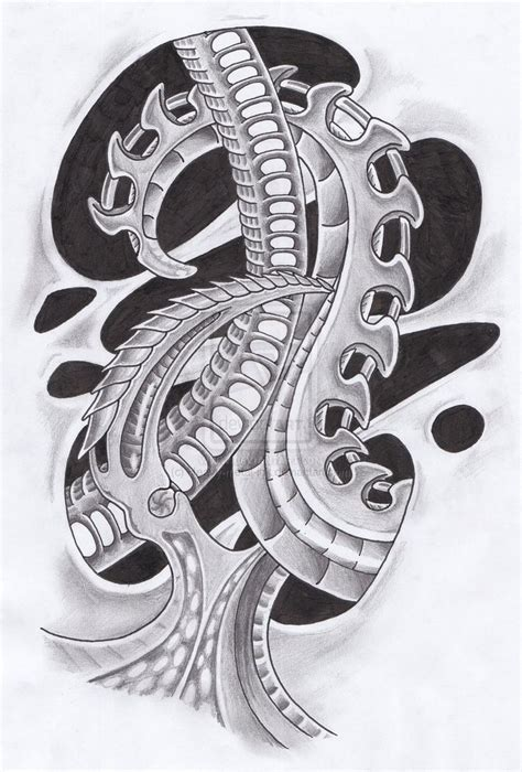 pencil drawings tattoo designs biomechanical drawings biomechanical design by heavy