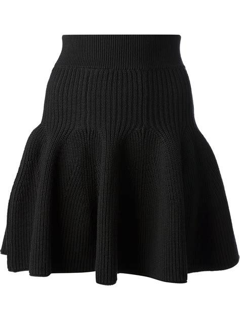 Hem Ruffle Black Kenzo Knitted Ruffle Hem Skirt In Black Lyst