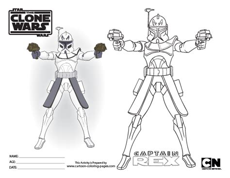 coloring pages captain rex free coloring pages of the clone commander