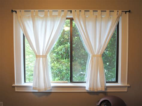 window treatments for short windows short window curtains