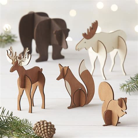 laser cut foxes  winter scene ornament reviews crate