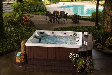 hot tub backyard ideas backyard ideas for hot tubs and swim spas
