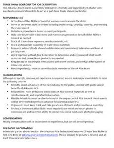 show resume sles 28 trade show coordinator resume professional