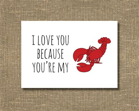 because you re my friend greeting card happy birthday i love you because you re my lobster greeting by