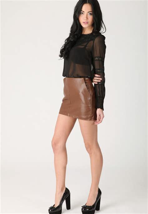 leather mini skirts 2012