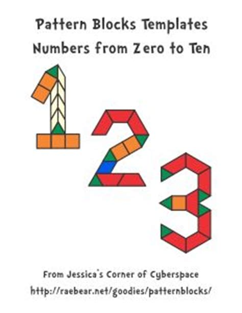 pattern block templates numbers 1000 images about counting and number recognition on